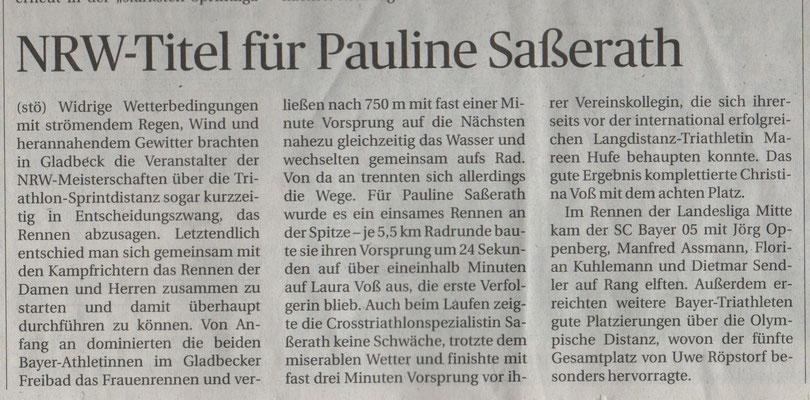 Rheinische Post 16.05.2018