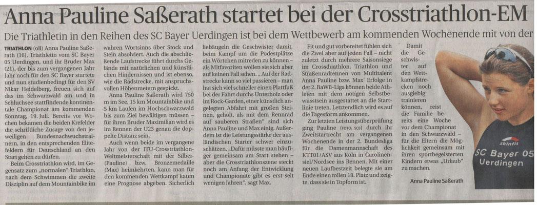 Rheinische Post 11.07.2015