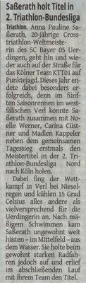 Westdeutsche Zeitung am 23.07.2019