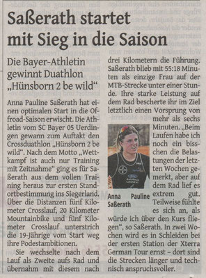 Westdeutsche Zeitung 11.04.2018