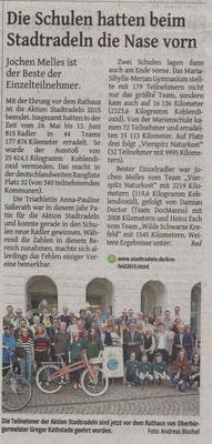 Westdeutsche Zeitung 21.08.2015