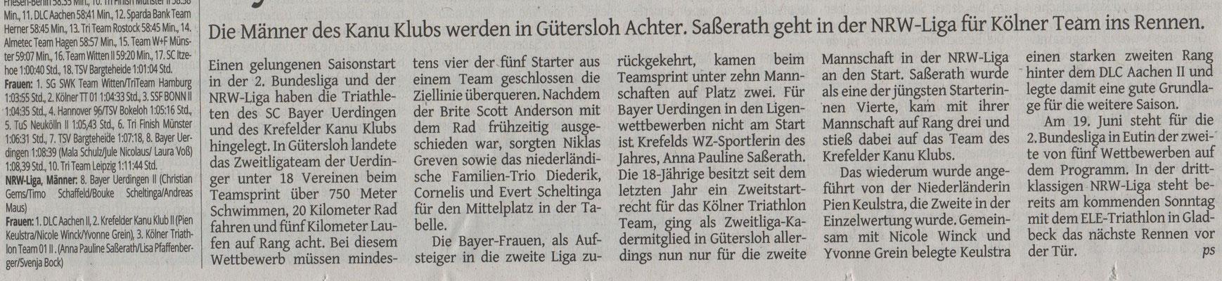 Westdeutsche Zeitung 25.05.2016