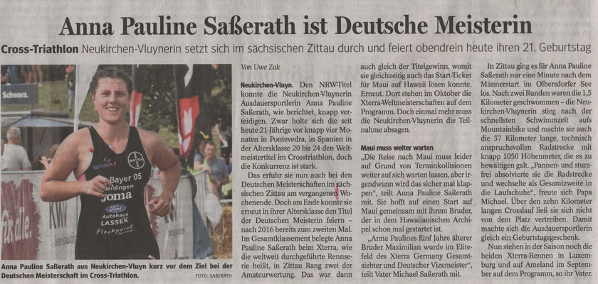Neue Rhein Ruhr Zeitung am 19.08.2019