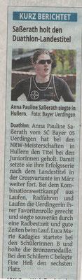Westdeutsche Zeitung 22.04.2016