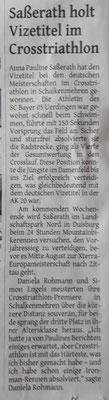 Westdeutsche Zeitung 01.08.2018