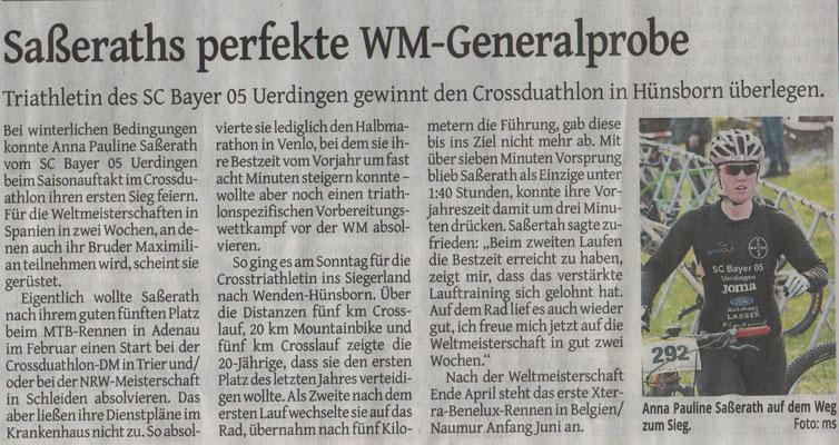 Westdeutsche Zeitung am 17.04.2019
