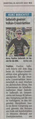 Westdeutsche Zeitung am 10.08.2019