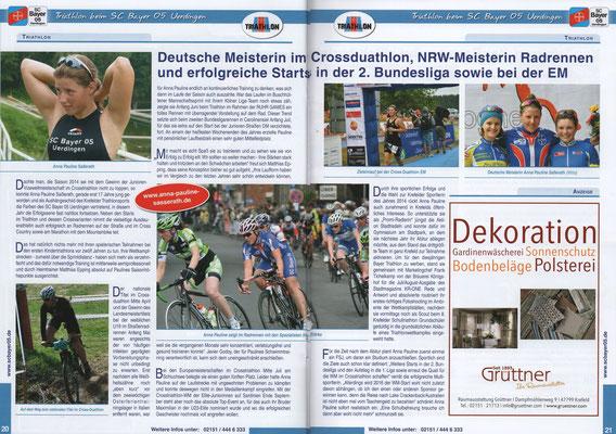 Sportparkkurier Sonderheft zum BAYER Triathlon 2015