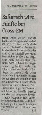 Westdeutsche Zeitung 22.07.2015