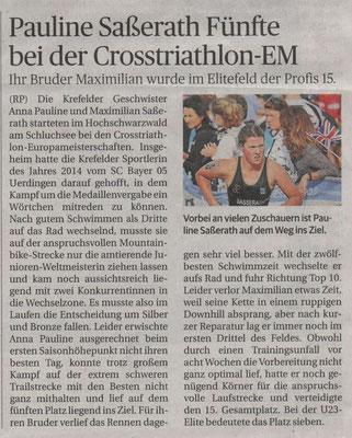 Rheinische Post 22.07.2015