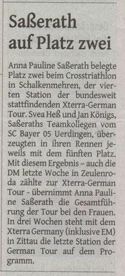 Westdeutsche Zeitung am 02.08.2016