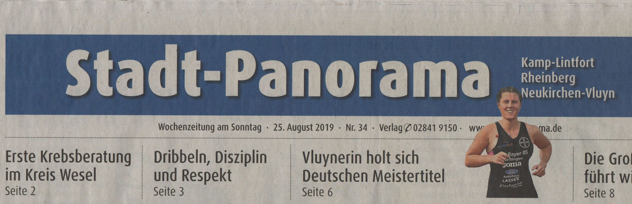 Stadt-Panorama/Titelseite am 25.08.2019