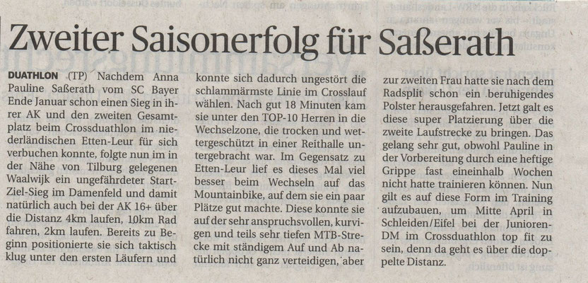 Westdeutsche Zeitung 26.02.2015