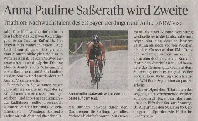 Rheinische Post 19.08.2015