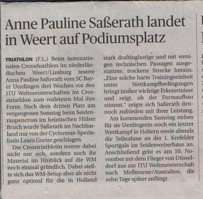 Rheinische Post 03.11.2016