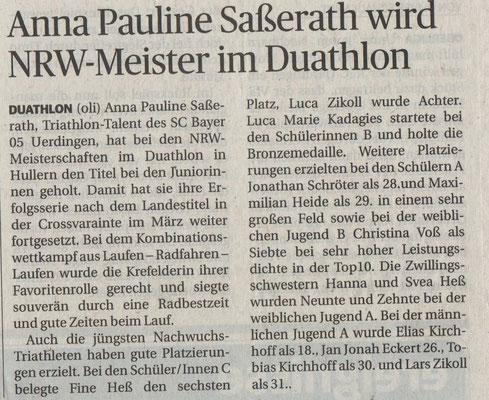 Rheinische Post 24.04.2016