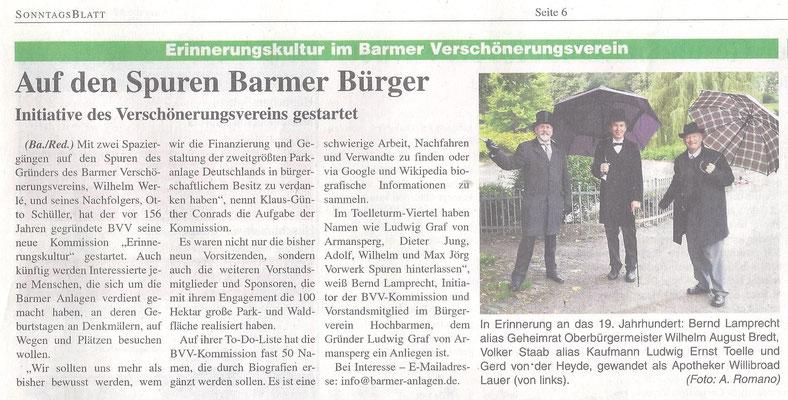 18.10.2020 Auf den Spuren Barrmer Bürger -Graf von Armansperg, 1. Vorsitzender des Bürgervereins