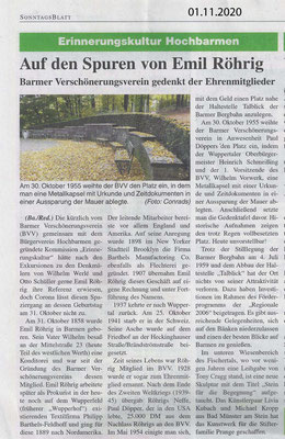 01.11.2020 Erinnerungskultur Hochbarmen