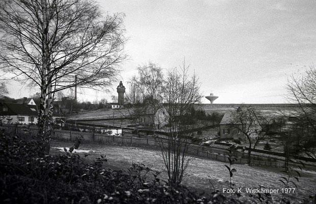 1977 Lichtscheider Wassertürme, im Vordergrund Böhler Weg