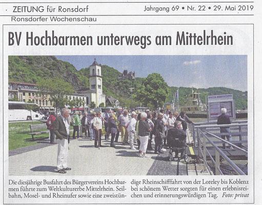 Ronsdorfer Wochenschau vom 29.05.2019