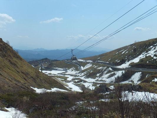 スキー場の残雪