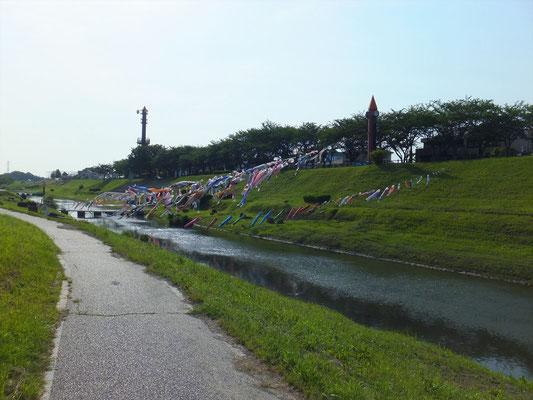 運河水辺公園付近