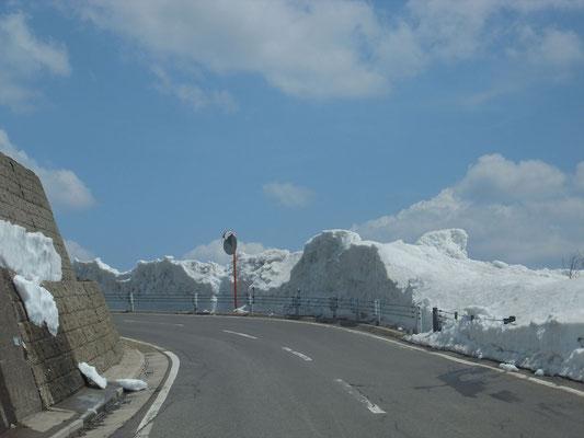 2000m以上の雪の回廊