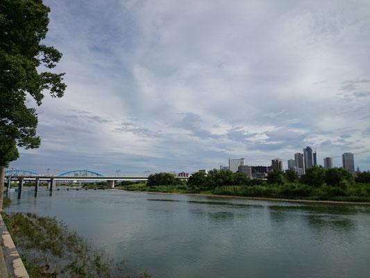 丸子橋、多摩川、武蔵小杉。