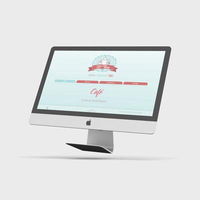 Webseite - Konzeption Design und Layout unter Verwendung von CMS   Süße Flora - Café