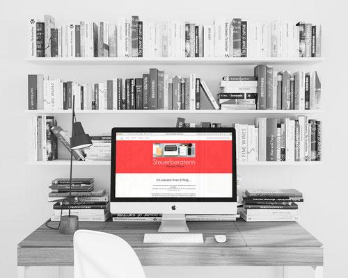 Webseite - Konzeption und ReDesign unter Verwendung von CMS   Steuerberaterin Renate Meyer