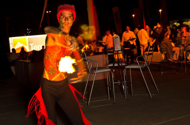 lounge y fuego en evento corporativo en vallarta www.zevievents.com