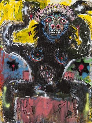 Mawu Acrylique sur toile - 200 x 150 cm