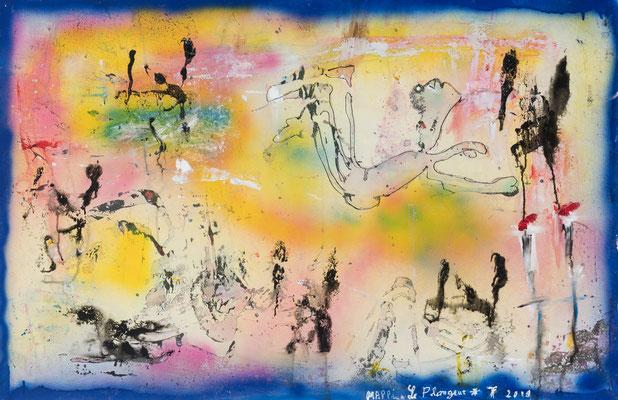 Le Plongeur (2019) - Acrylique sur toile, 75 x 115 cm
