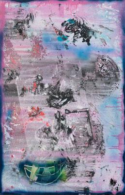 Transparence (2019) - Acrylique sur toile, 115 x 75 cm