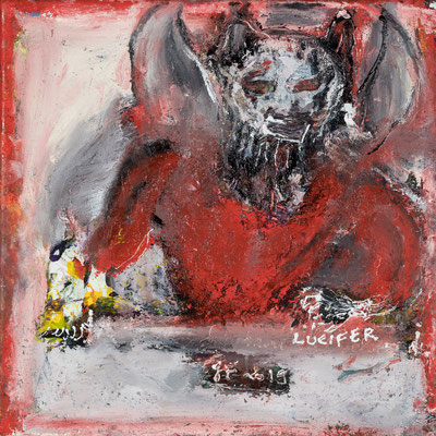 Lucifer (2018)  Acrylique sur toile 30 x 30 cm