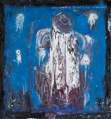 Désincarnation (2015) - Acrylique sur toile 150 x 140 cm
