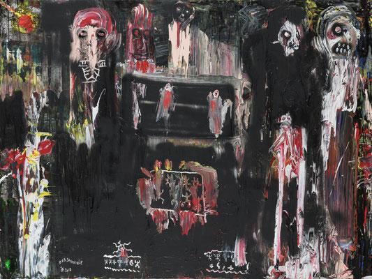 Satanique (2018) - Acrylique sur toile 150 x 200 cm