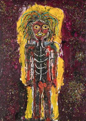 L'enfant Rä - Acrylique sur toile