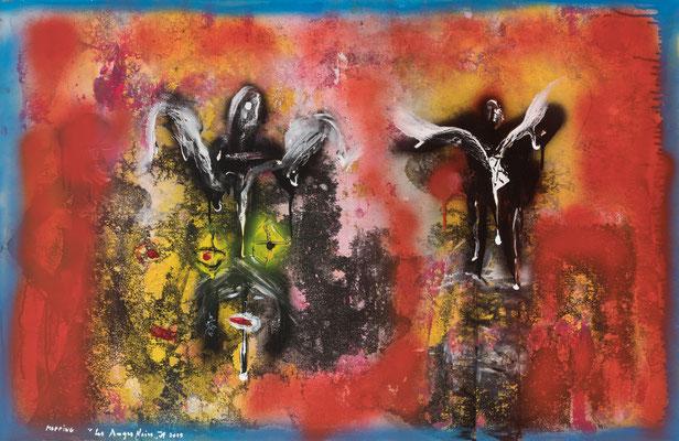 Les Anges noirs (2019) - Acrylique sur toile, 75 x 115 cm