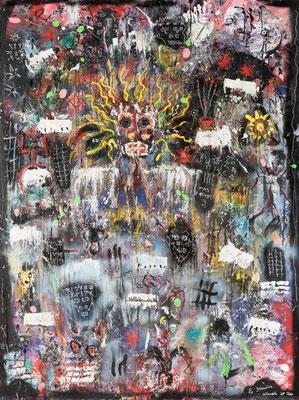 Le Guerrier Aveugle - Acrylique sur toile  200 x 150 cm