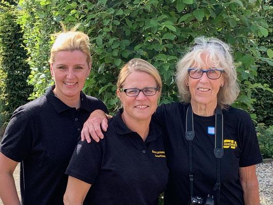Orgateam LK-Turnier Simone Drawer, Karen Lessmann und Hanne Fuhrmann