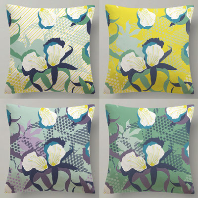 ORCHIDS - Homeware - Surface pattern design -  Textile design - LECLERC - Design competition