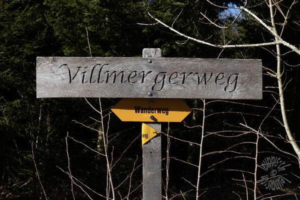 Der Villmergerweg führt, wie könnte es auch anders sein, nach Seengen