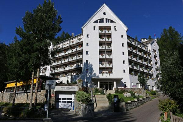 Unsere Unterkunft, das Hotel Schweizerhof in Sils