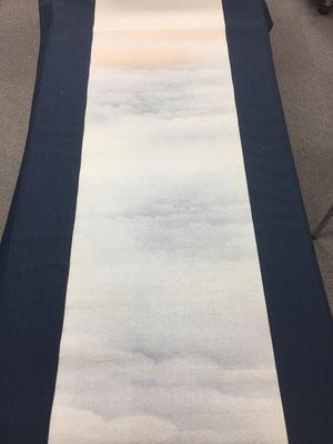 半切 No.24-6 中色染 雲海型ぼかし金カスミ グレー