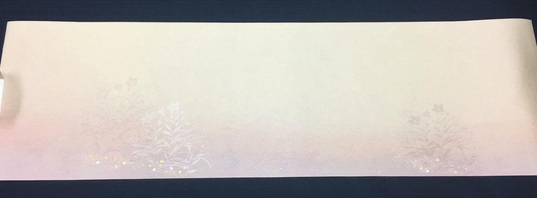 新鳥の子 30×100㎝ 裾2色ぼかし桔梗紋様 1枚\2,000