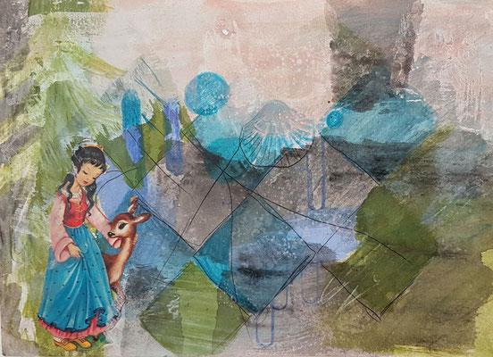 märchen 1   14 cm x 21 cm Papier auf MdF