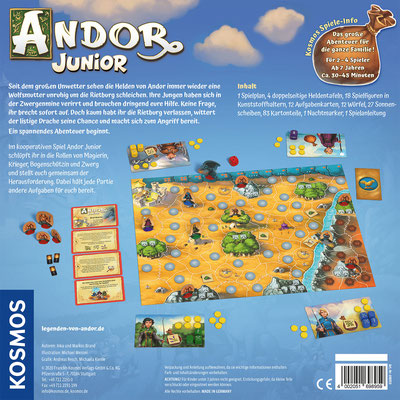 Andor Junior - Spielbox Rückseite