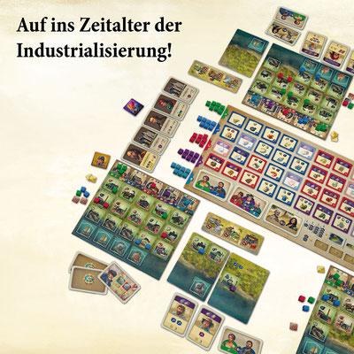 Anno 1800 - Das Brettspiel Spielaufbau