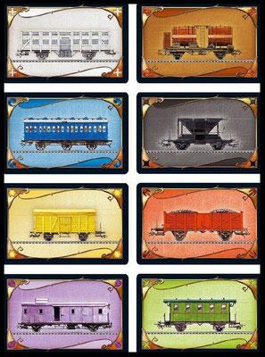 Waggonkarten - Zug um Zug